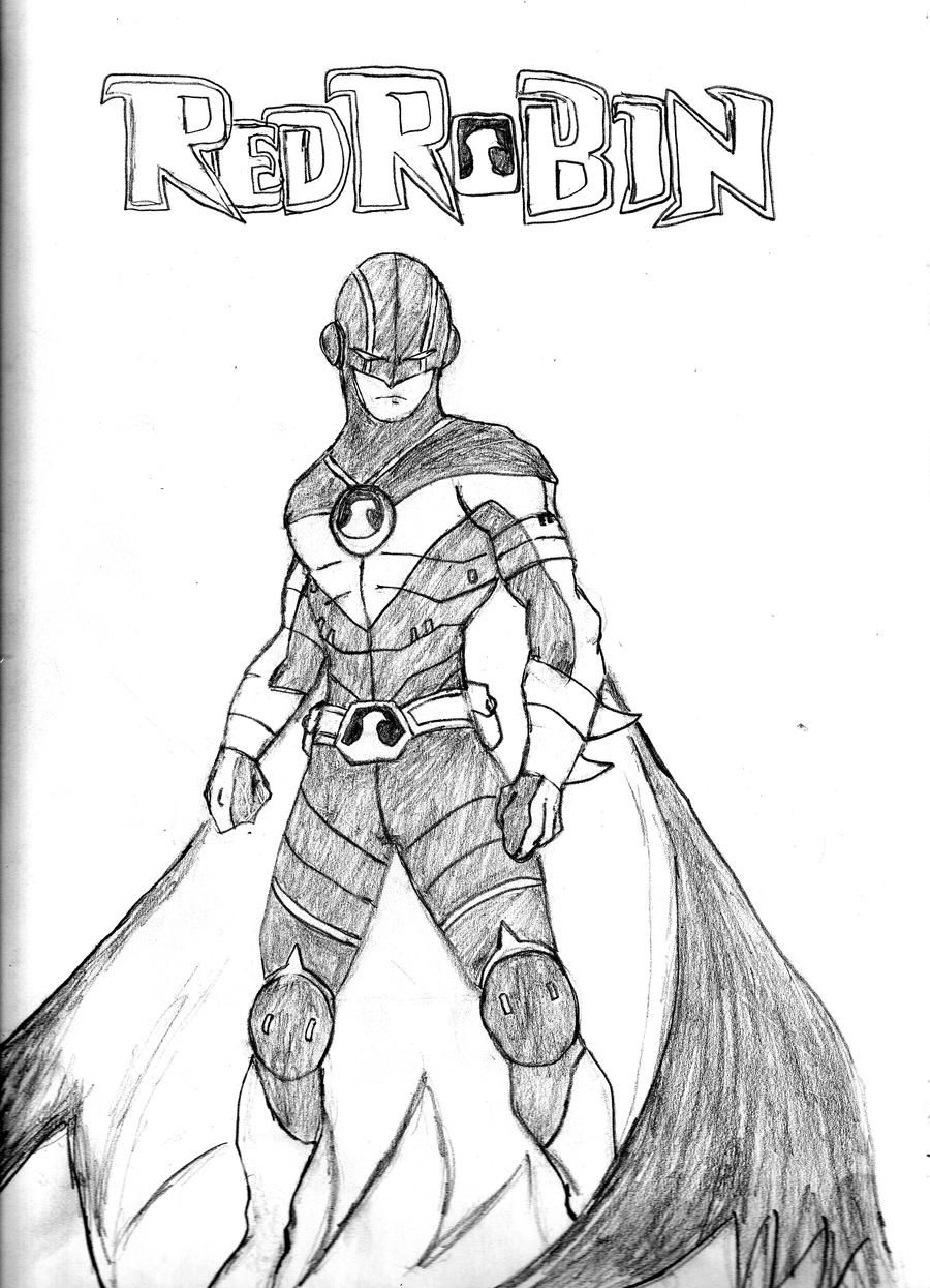Line Drawing Robin : Red robin redeco by qsama on deviantart