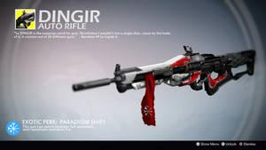 Dingir (Exotic Auto Rifle Concept) by Rageblade66