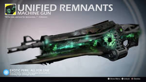 Unified Remnants (Exotic Machine Gun Concept) by Rageblade66