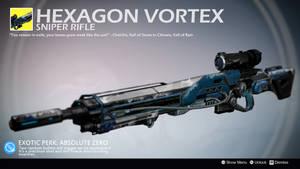 Hexagon Vortex (Exotic Sniper Rifle Concept) by Rageblade66