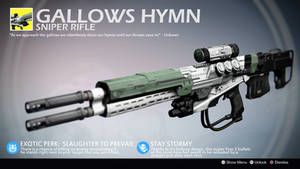 Gallows Hymn (Exotic Sniper Rifle Concept) by Rageblade66