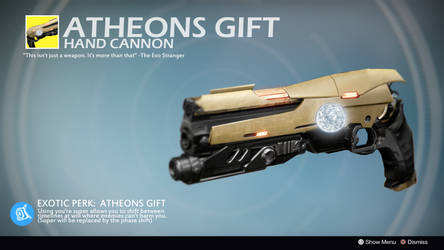 Atheons Gift (Exotic Concept by ControllaSkylz) by Rageblade66