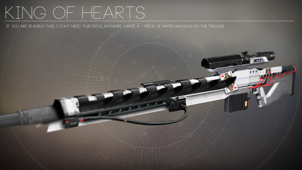 King of Hearts - Exotic Sniperrifle Concept by Rageblade66