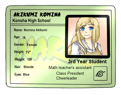 Konoha High School: Akikumi Komina by Nara-Usagi
