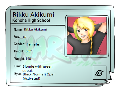 Konoha High School: Akikumi Rikku by Nara-Usagi