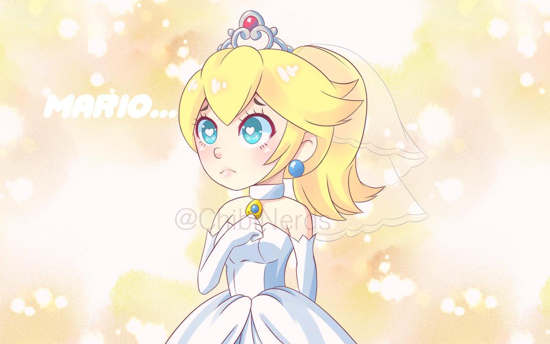 Chibi Princess Peach with wedding dress by ChibiNerds on DeviantArt