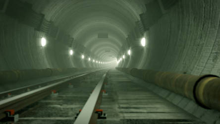 Rail Tunnel Fallout 3 style