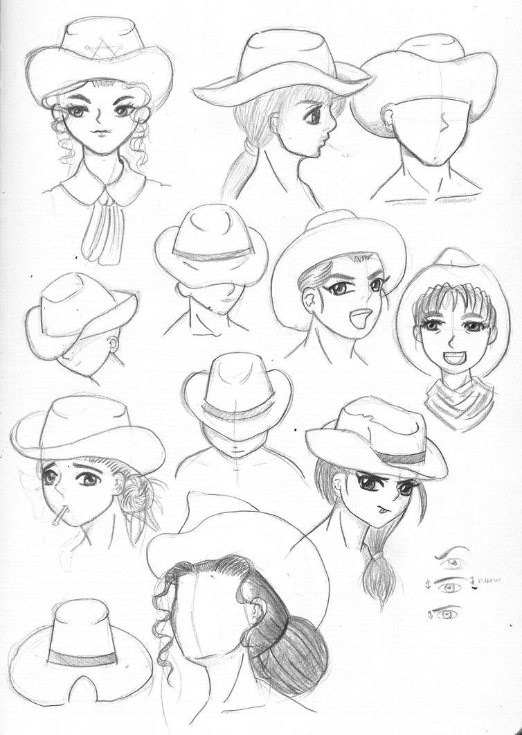 Cowboy Hat Sketch Moleskin Sketch 1 Some Cowboy