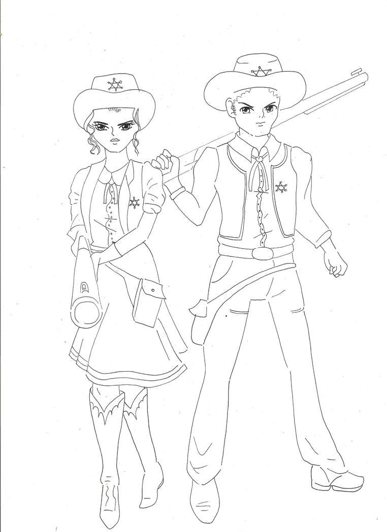 Line Drawing Couple : Anime couple line art