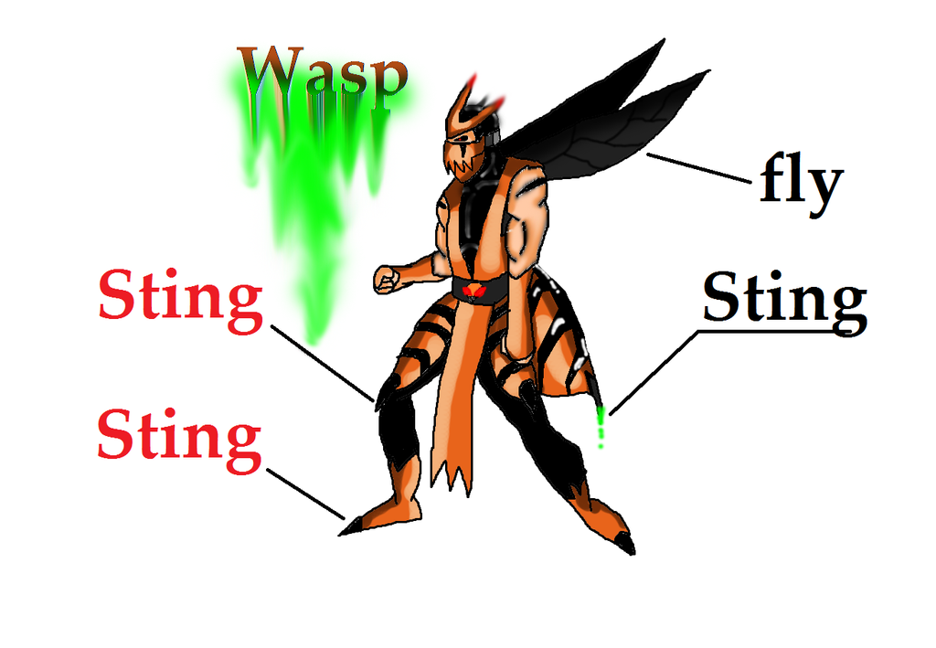 Queen wasp sting