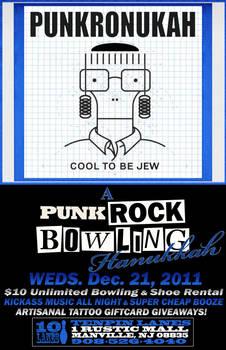 Punk Rock Bowling Hanukkah One-sheet