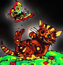 Birthday Kitty for Elianna! by mockingbirdontree