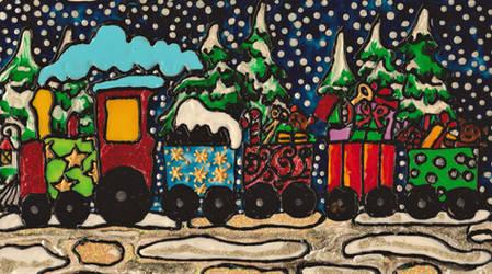 Birthday Train! by mockingbirdontree