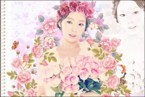 The flowers: Taeyeon