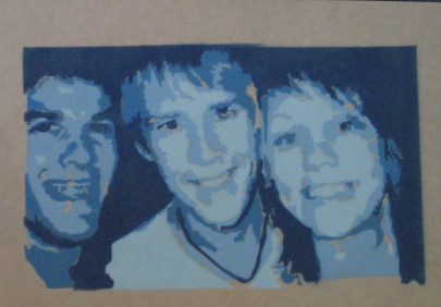 me, ben and sloan on wood by Cara-C