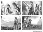 commish : Sketch Illustration by blewh