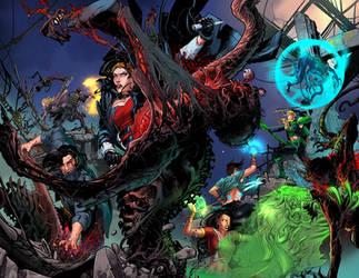 Van Helsing vs Frankenstein #1 page2-3 by blewh