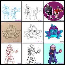 Drawing collab meme