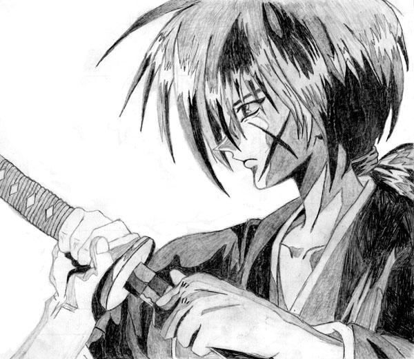 Rurouni Kenshin Sketch By Sasukexitachi