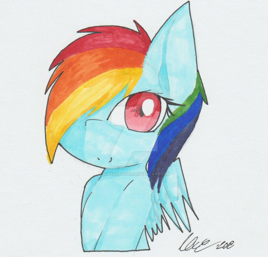 Rainbow Dash by supera14ever