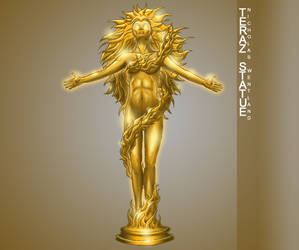 Statue of the Goddess Teraz by Nightlance1
