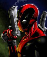 Deadpool Pinup by Nightlance1