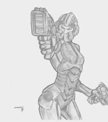 Sci-fi Character Design by Nightlance1