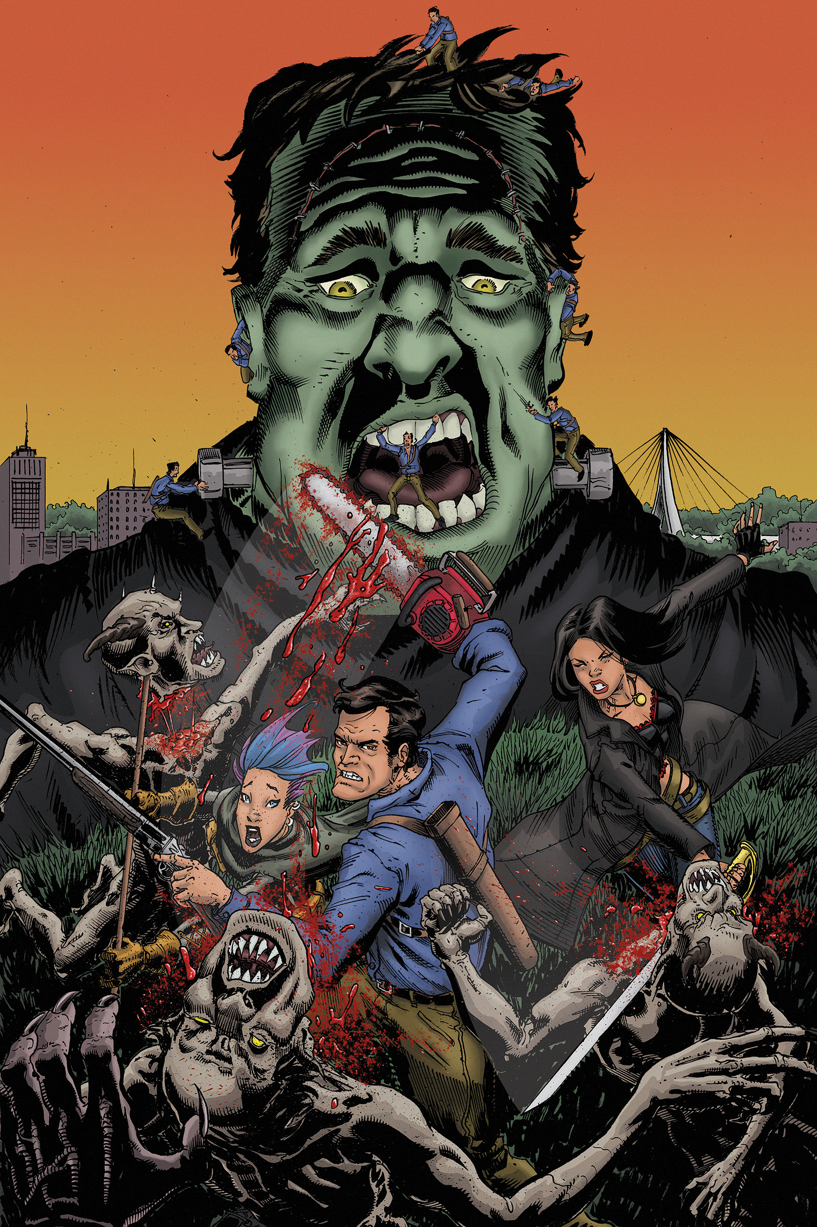 Army of Darkness: Furious Road #4, Variant Cover by Nightlance1