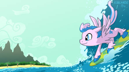 Surfing Pegasus-skittles eat your heart out by Elosande