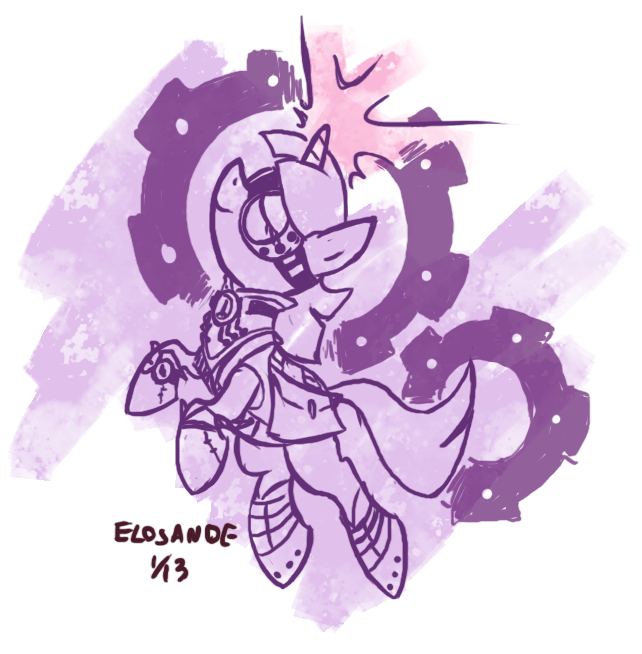Steampunk unicorn by Elosande