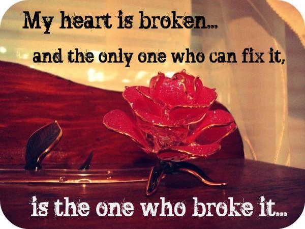 Broken heart by LisaFruitLoop