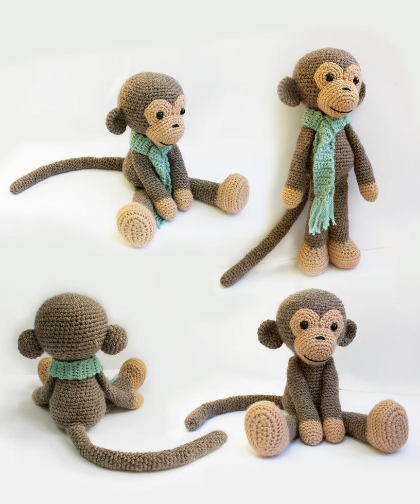Amigurumi Gorilla Pattern : Amigurumi Monkey Pattern by AnatTzach on DeviantArt
