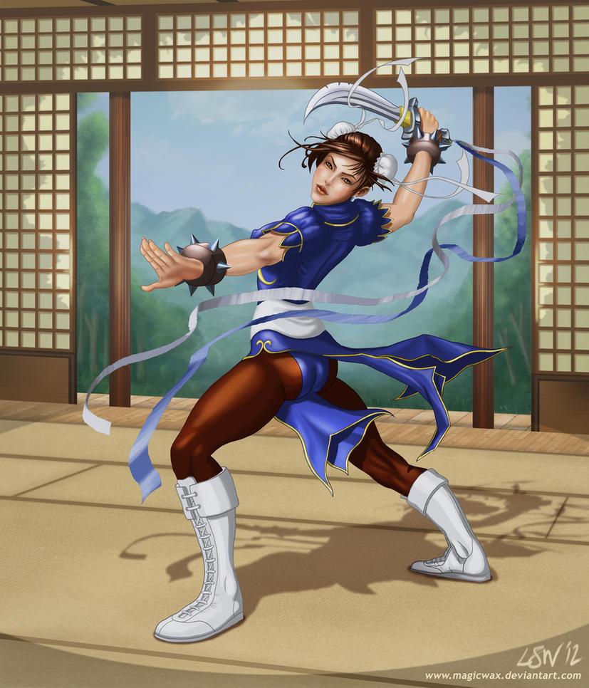 Chun Li Dojo by LarryWilson