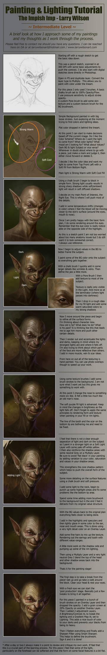 Lighting And Painting Tutorial - The Impish Imp