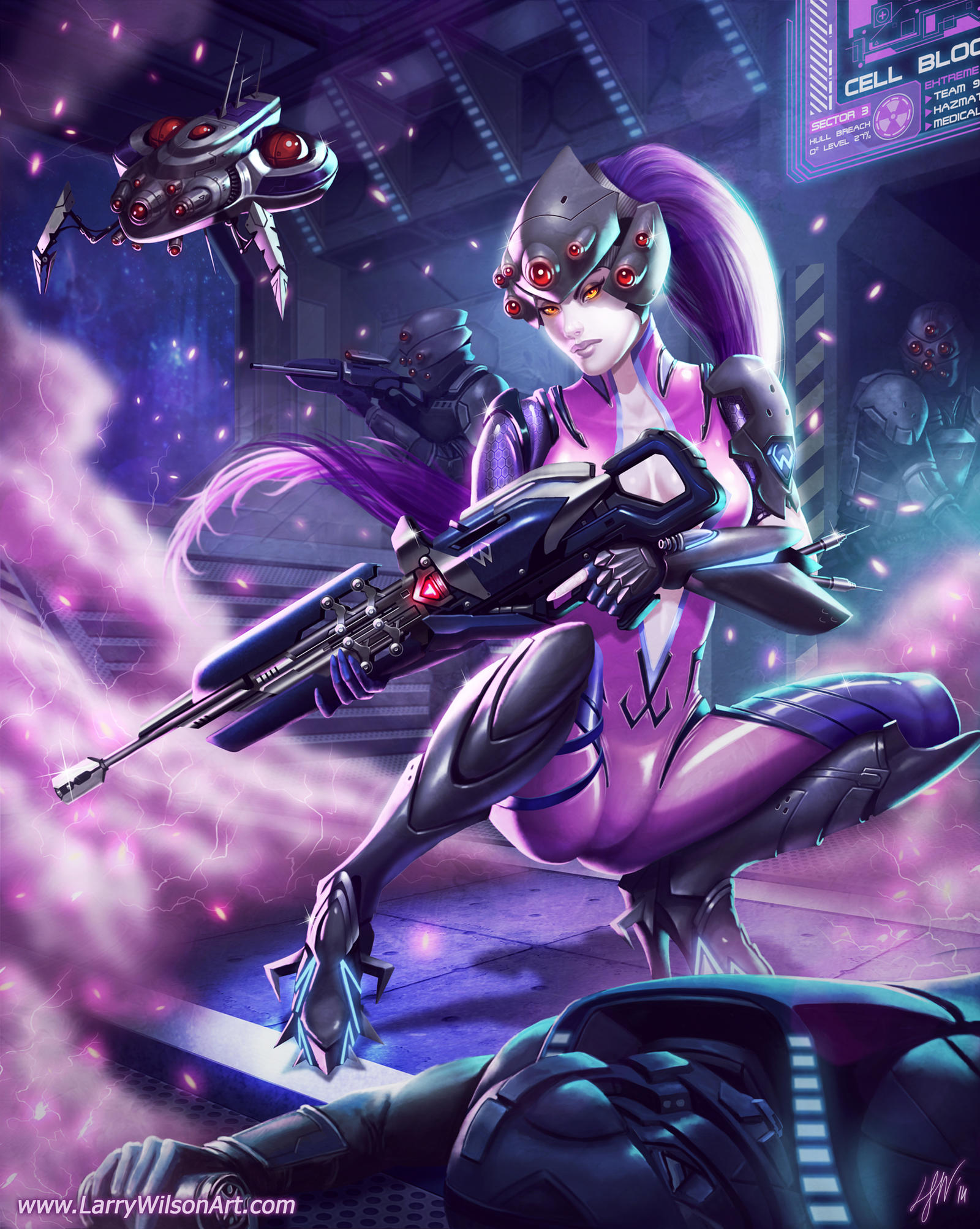 overwatch widowmaker fanart