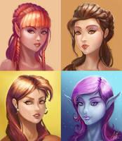 Portrait Sketches by LarryWilson