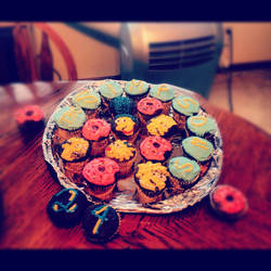 Simpsons Cupcakes by TailsThePrower71