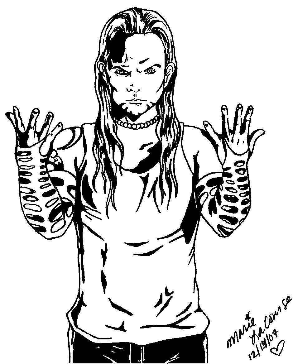 Jeff hardy by three wishes89 on deviantart for Jeff hardy coloring pages