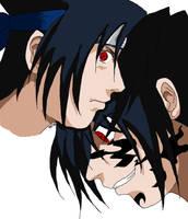 Sasuke....Torn Colored by omisgirl