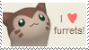 I love furrets - Stamp by RainCupcake