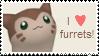 I love furrets - Stamp by RainCupcake