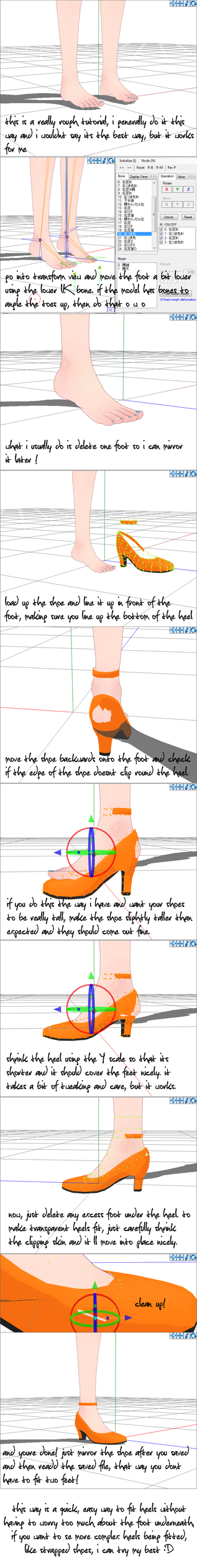 tutorial :: heel fitting goodness ! by chippedlilac