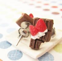 chocolate bar earrings by PetiteCreation