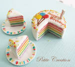 12th scale rainbow bday cake2 by PetiteCreation