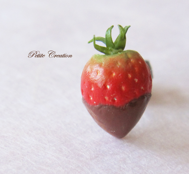 strawberry stude earrings3 -Petite Creation by PetiteCreation