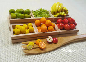 Miniature Fruit Stand by PetiteCreation