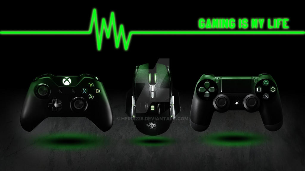 I am gamer because I choose to have many lives wallpaper