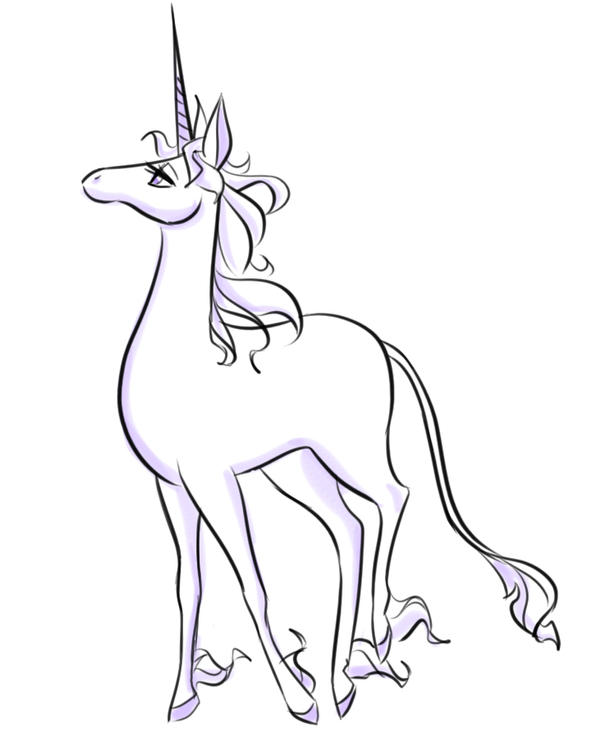 The Last Unicorn By Kthap On Deviantart The Last Unicorn Coloring Pages