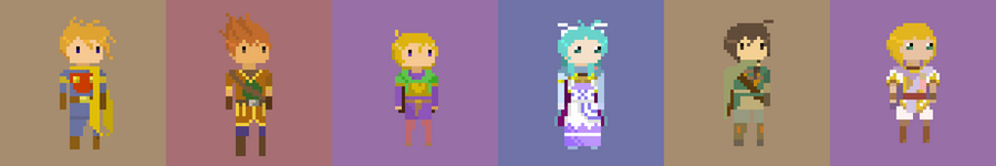 Golden Sun characters by drin-chan