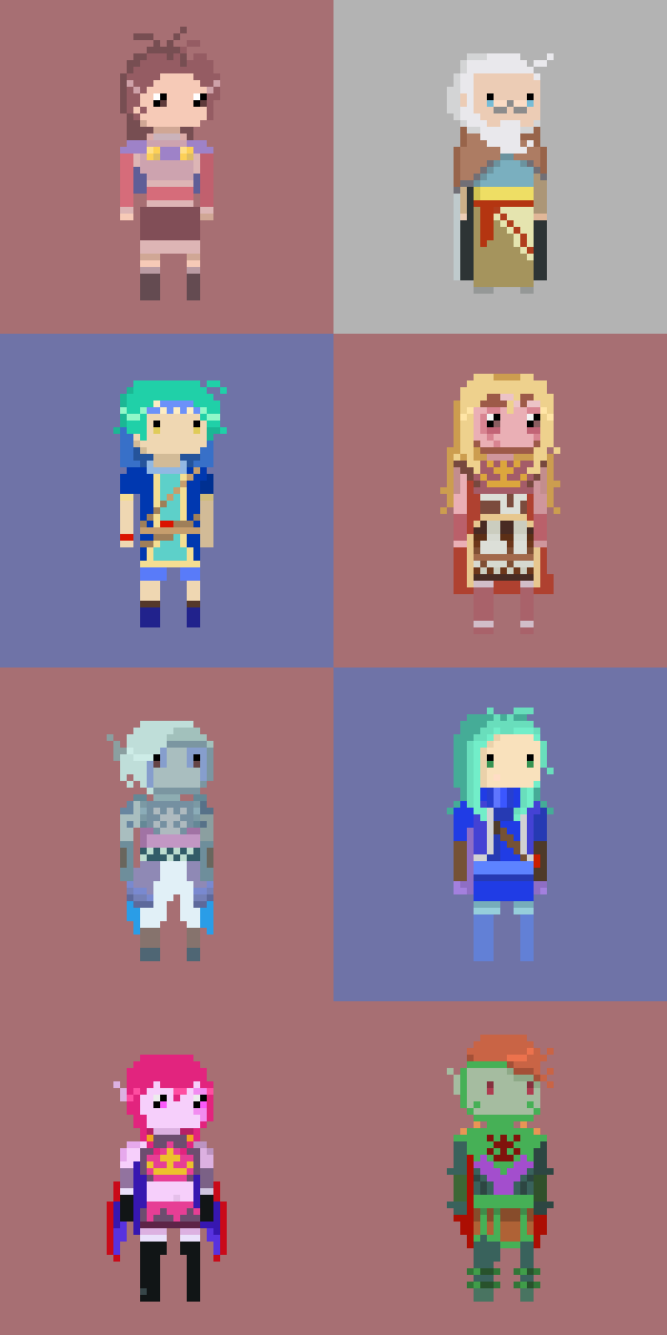 Golden Sun characters 2 by drin-chan